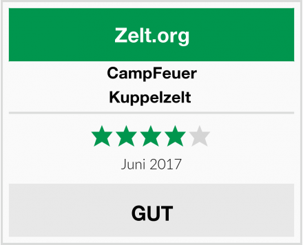 CampFeuer Kuppelzelt  Test