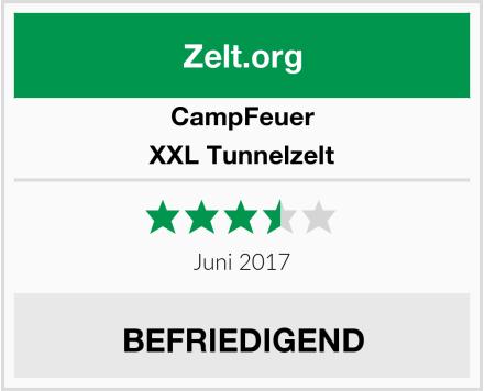 CampFeuer XXL Tunnelzelt Test