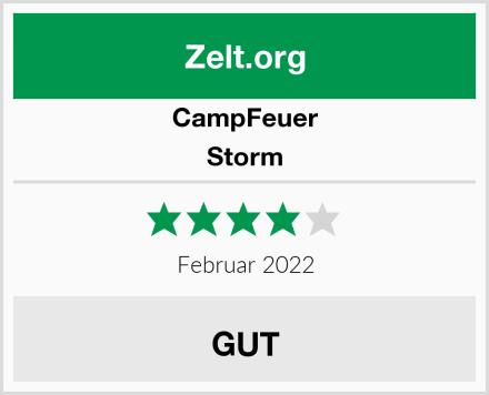 CampFeuer Storm Test