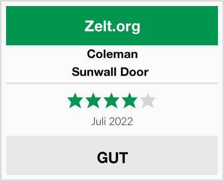 Coleman Sunwall Door  Test
