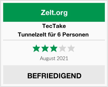 TecTake Tunnelzelt für 6 Personen  Test