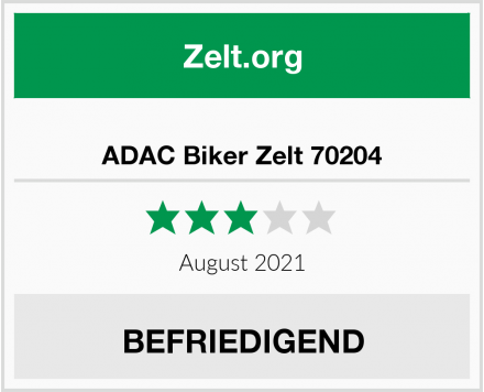 No Name ADAC Biker Zelt 70204 Test