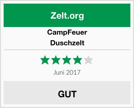 CampFeuer Duschzelt Test