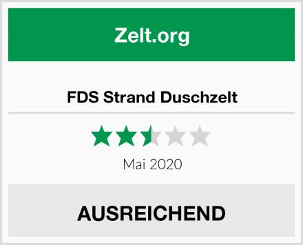 FDS Strand Duschzelt Test