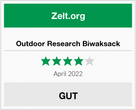 Outdoor Research Biwaksack Test