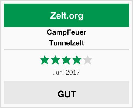 CampFeuer Tunnelzelt Test