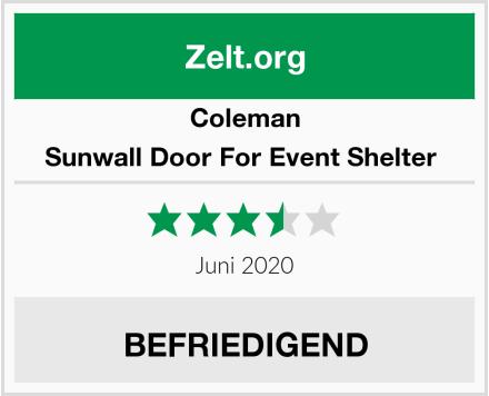 Coleman Sunwall Door For Event Shelter  Test