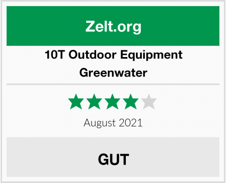 10T Outdoor Equipment Greenwater Test