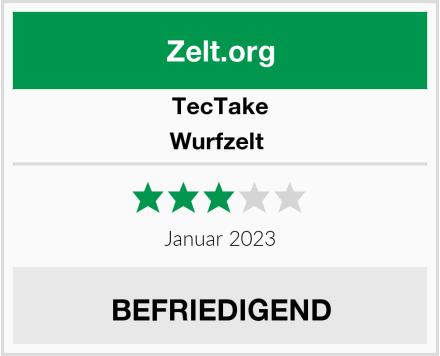 TecTake Wurfzelt  Test