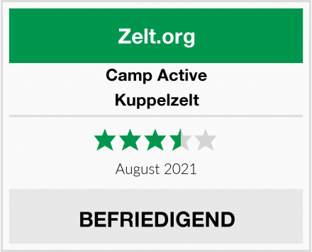 Camp Active Kuppelzelt Test