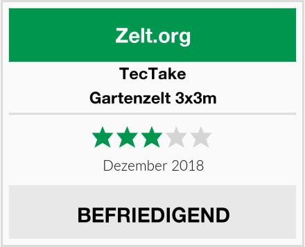 TecTake Gartenzelt 3x3m Test