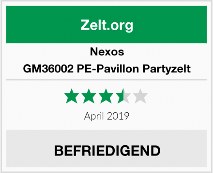 Nexos GM36002 PE-Pavillon Partyzelt Test