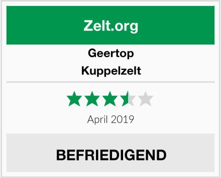 Geertop Kuppelzelt Test