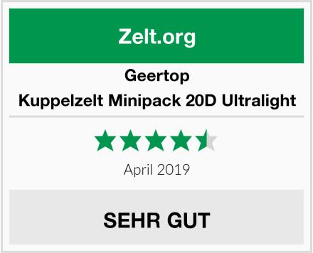 Geertop Kuppelzelt Minipack 20D Ultralight Test