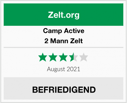 Camp Active 2 Mann Zelt Test