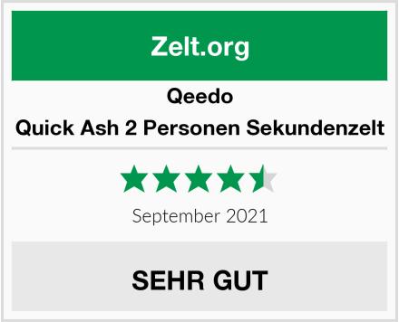 Qeedo Quick Ash 2 Personen Sekundenzelt Test