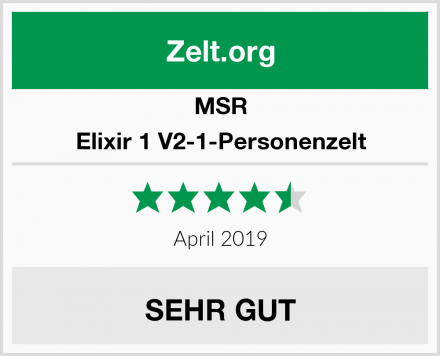 MSR Elixir 1 V2-1-Personenzelt Test