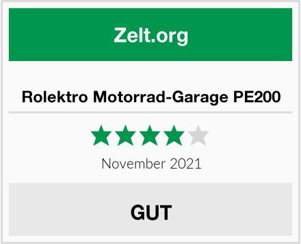Rolektro Motorrad-Garage PE200 Test
