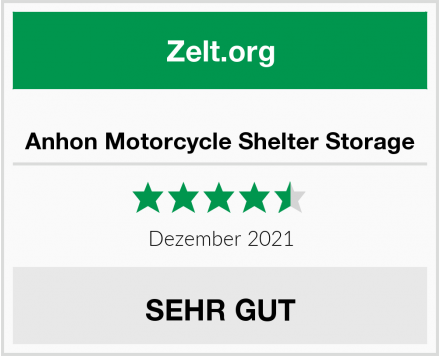 Anhon Motorcycle Shelter Storage Test