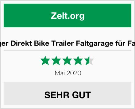 Fahrradanhänger Direkt Bike Trailer Faltgarage für Fahrradanhänger Test