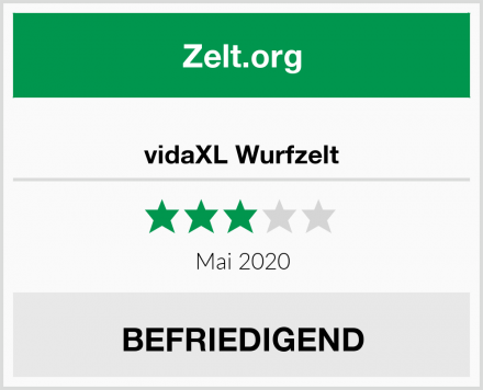 vidaXL Wurfzelt Test