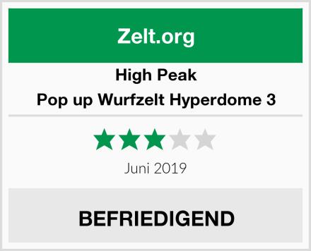High Peak Pop up Wurfzelt Hyperdome 3 Test