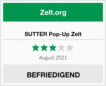 SUTTER Pop-Up Zelt Test