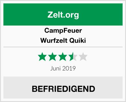 CampFeuer Wurfzelt Quiki Test