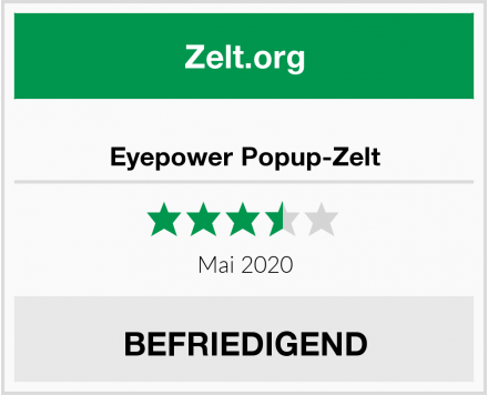 No Name Eyepower Popup-Zelt Test