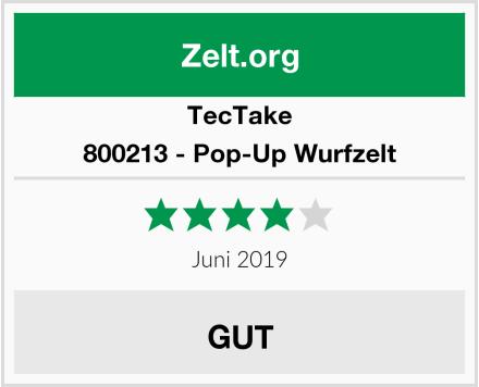 TecTake 800213 - Pop-Up Wurfzelt Test