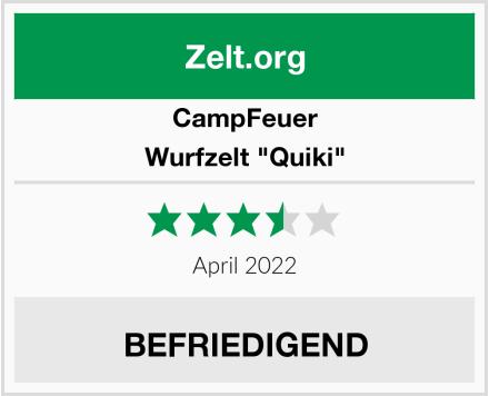 """CampFeuer Wurfzelt """"Quiki"""" Test"""