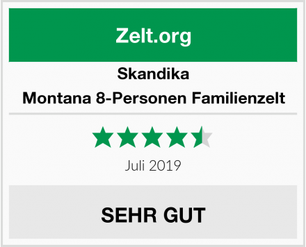 Skandika Montana 8-Personen Familienzelt Test