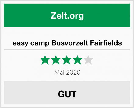 easy camp Busvorzelt Fairfields Test