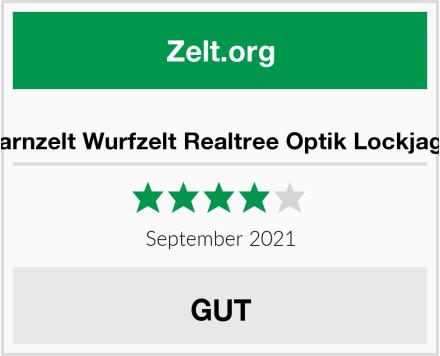No Name Tarnzelt Wurfzelt Realtree Optik Lockjagd Test