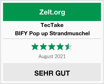 TecTake BIFY Pop up Strandmuschel Test