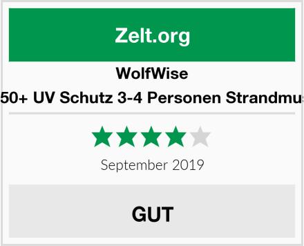 WolfWise UPF 50+ UV Schutz 3-4 Personen Strandmuschel Test