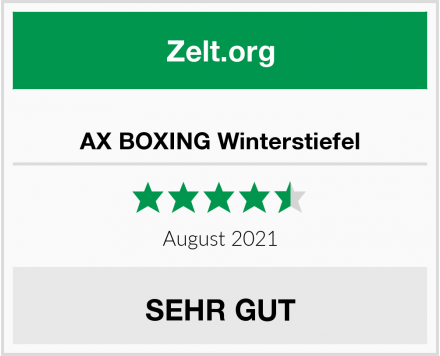 AX BOXING Winterstiefel Test