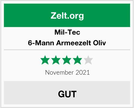 Mil-Tec 6-Mann Armeezelt Oliv Test