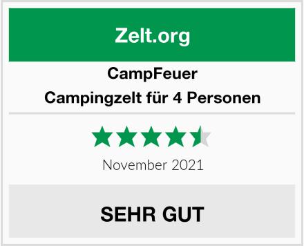 CampFeuer Campingzelt für 4 Personen Test