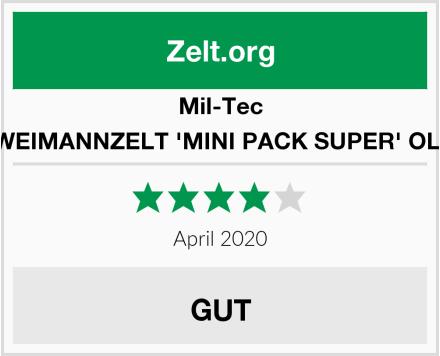 Mil-Tec ZWEIMANNZELT 'MINI PACK SUPER' OLIV Test