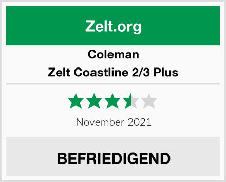 Coleman Zelt Coastline 2/3 Plus Test