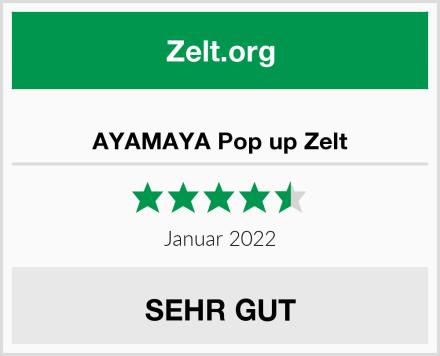 AYAMAYA Pop up Zelt Test