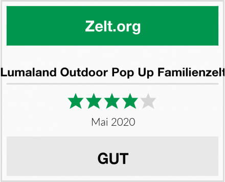 Lumaland Outdoor Pop Up Familienzelt Test