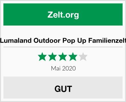 Lumaland Outdoor Pop Up Familienzelt Test