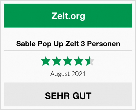 Sable Pop Up Zelt 3 Personen Test