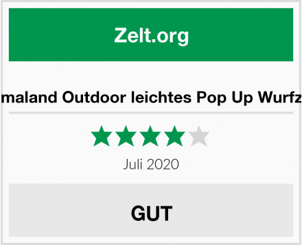 Lumaland Outdoor leichtes Pop Up Wurfzelt Test