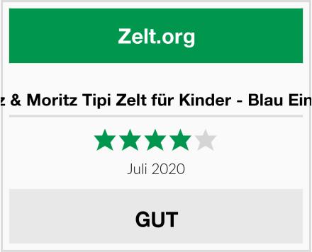 Moritz & Moritz Tipi Zelt für Kinder - Blau Einfarbig Test