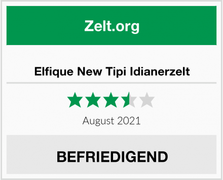 Elfique New Tipi Idianerzelt Test