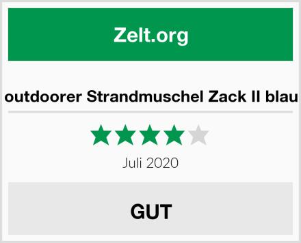 outdoorer Strandmuschel Zack II blau Test
