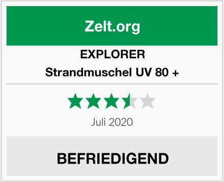 Explorer Strandmuschel UV 80 + Test